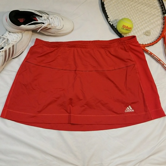 reputable site 2c63b 75d51 Adidas Climacool Tennis Skirt Skort Red XL